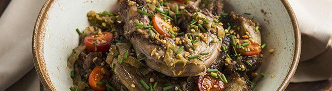 Pescoço de frango no vinagre